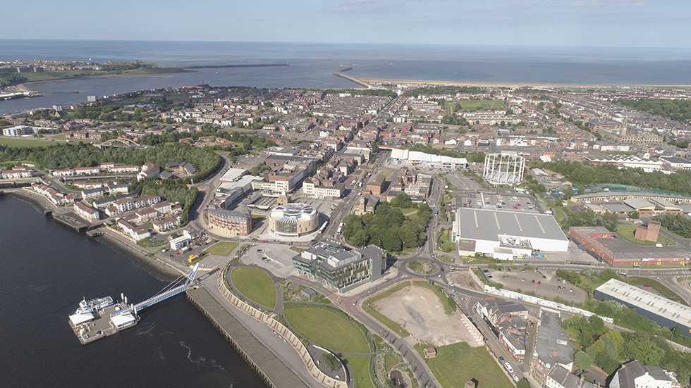 South Shields aerial image