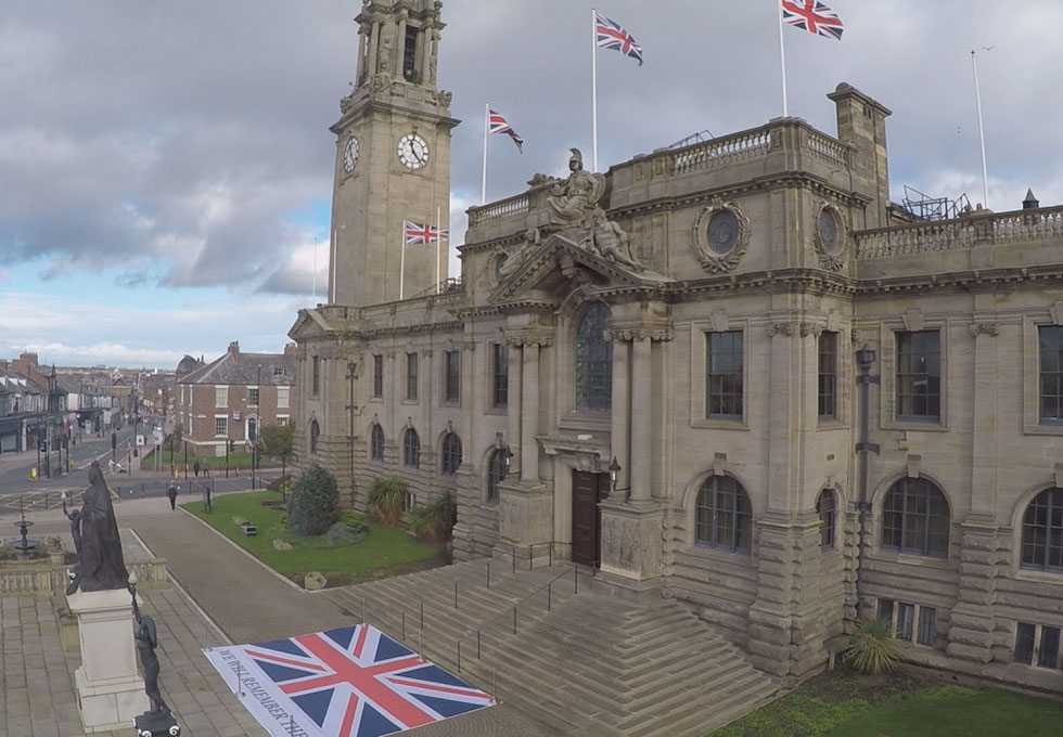South Shields Town Hall Remembrance 2020