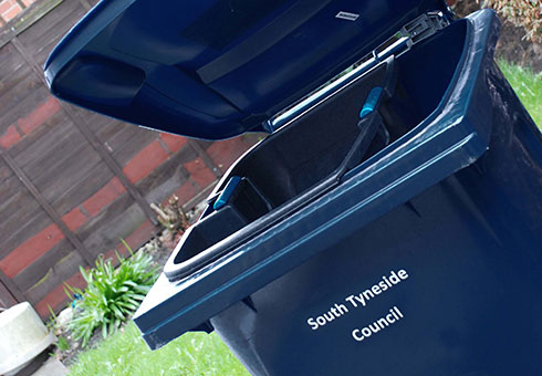 Request a new bin / blue bin caddy