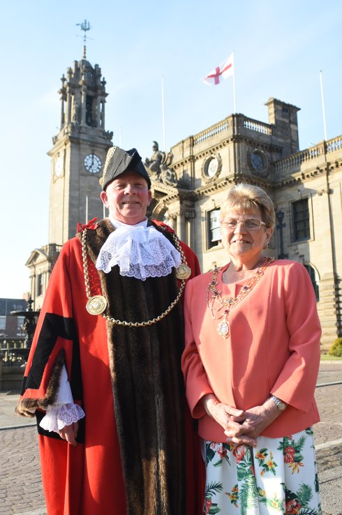 Mayor and Mayoress of South Tyneside, Cllr Alan Smith and Cllr Moira Smith