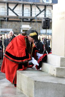 The Mayor of South Tyneside, Councillor Alan Smith, led tributes in South Shields on Remembrance Sunday