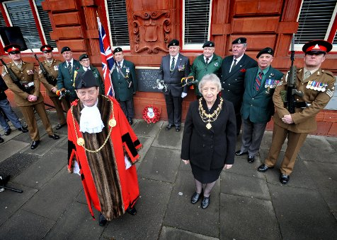 The Mayor of South Tyneside unveiled the new All Wars Memorial plaque at Jarrow Town Hall