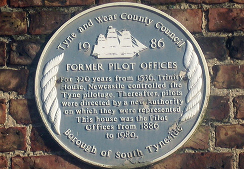 Former Pilots office plaque