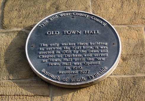 Old Town Hall plaque