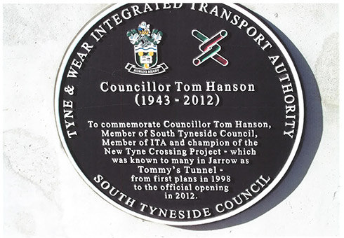 Tom Hanson plaque