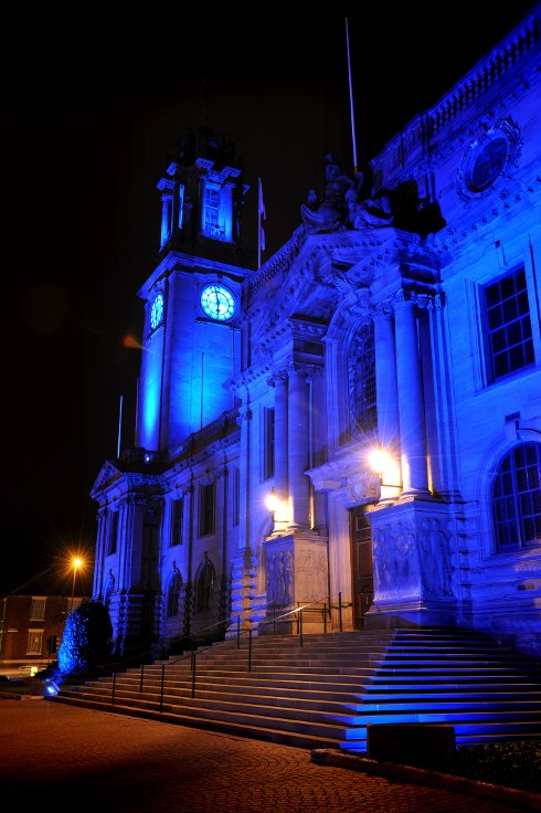 Blue Hue for Town Hall on World Diabetes Day