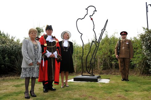 Tommy Soldier Silhouette Dedicated in South Tyneside