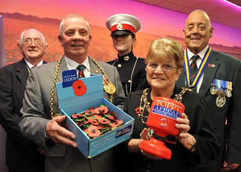 Mayor of South Tyneside Launches Poppy Appeal