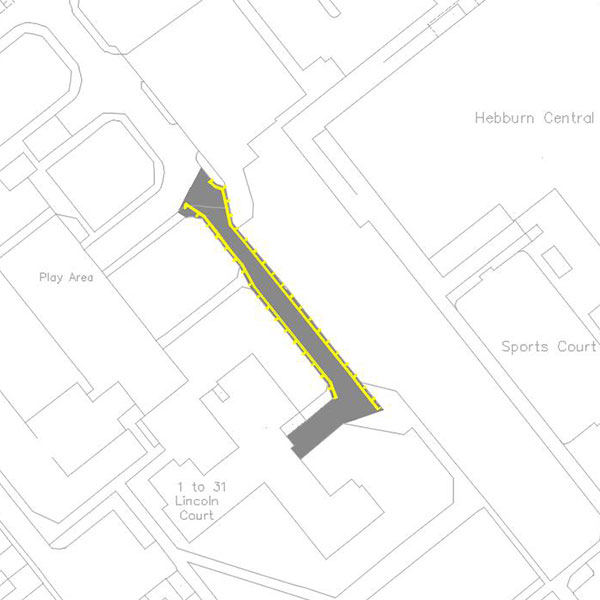 Proposed parking restriction at Lincoln Court, Hebburn