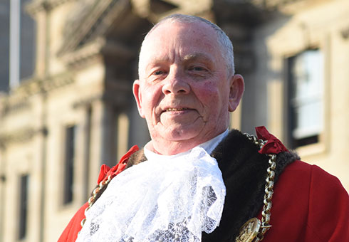 The Mayor of South Tyneside, Councillor Norman Dick (pre Covid-19 stock image)