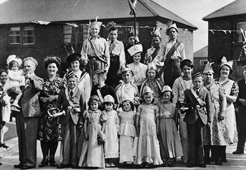 A Victory Party held in Barnard Crescent, South Shields
