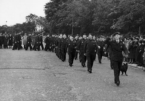 A World War II Thanksgiving Parade in South Shields on 10 June 1945