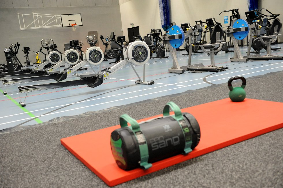 Hebburn Central gym (in sports hall) rowing machines