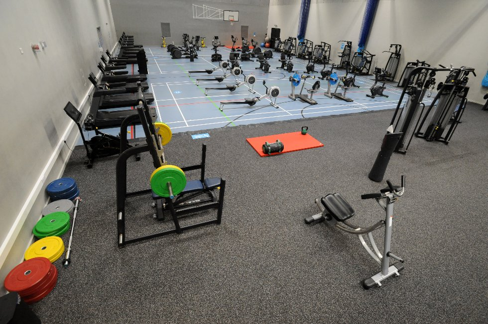 Hebburn Central gym (in sports hall) overview