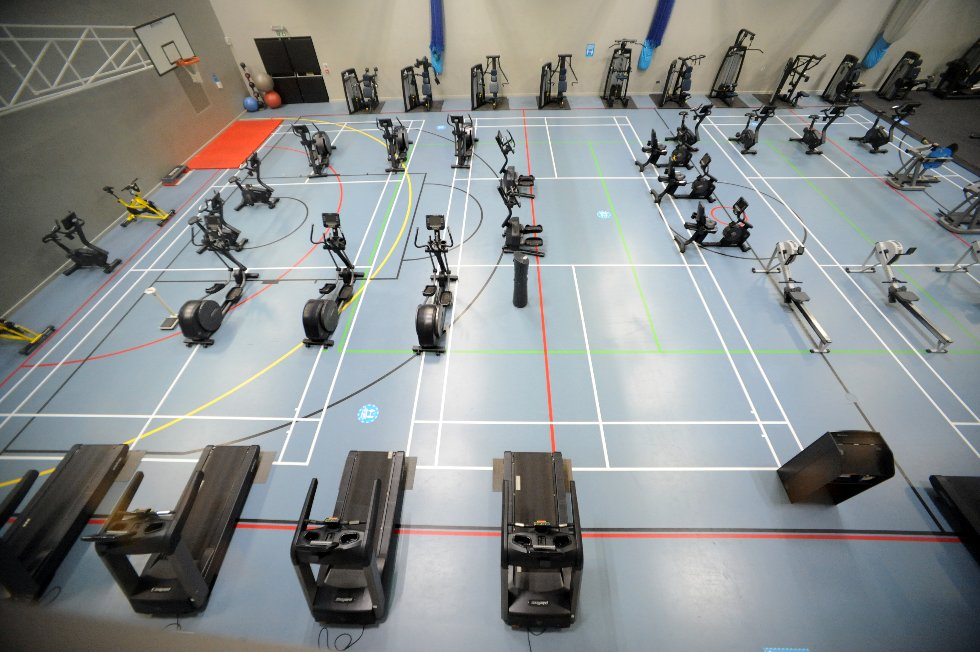 Hebburn Central gym (in sports hall) overhead view