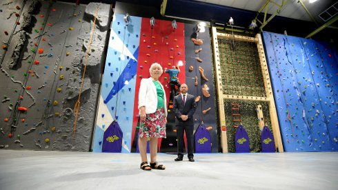 Climbing Wall Set to Re-open