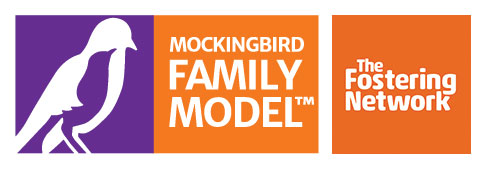 The Fostering Network and Mockingbird logos