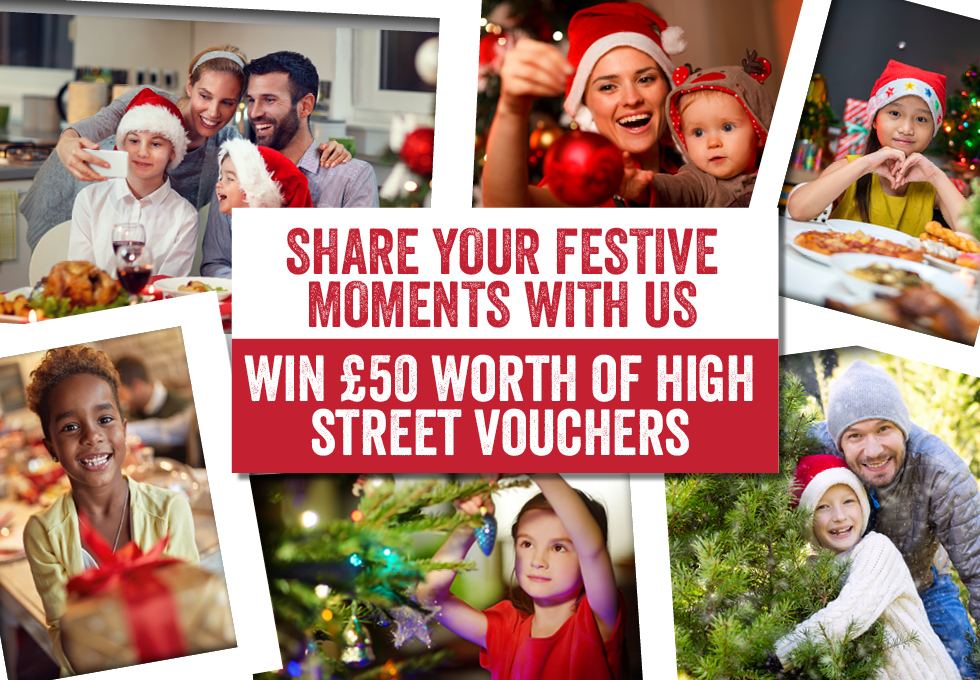 Share your festive moments with us - win £50 worth of high street vouchers