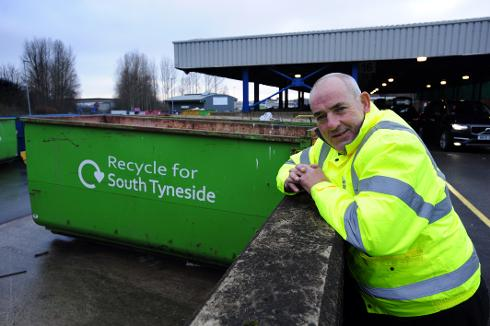 Booking in at South Tyneside Recycling Village